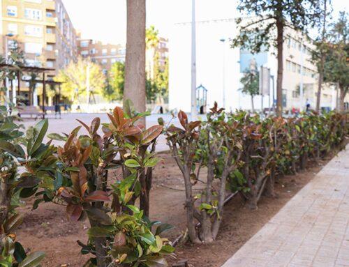 La SAG acondiciona la plaza Manuel Azaña dentro del Plan de Empleo y de Mejoras de zonas verdes